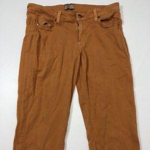 Paige Premium Jeans Peg Skinny Sz 30 Orange Rust